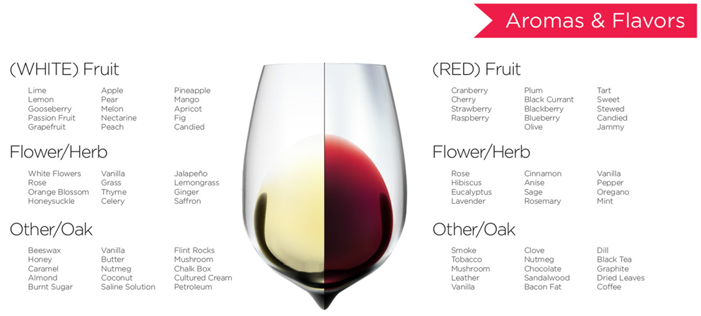 Wine Aromas and Flavors Whiteys Liquors